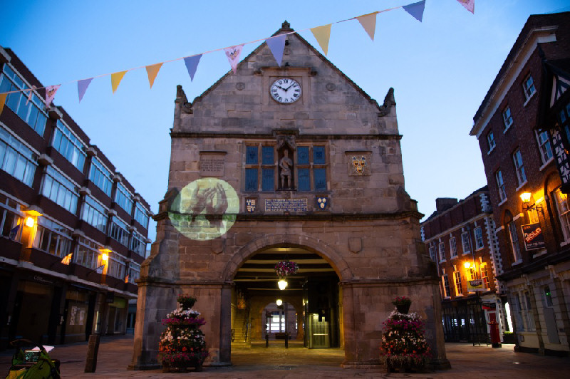 A video showing giant projections of clapping hands will be projected onto Shrewsbury Market Hall. Photo: Hamish McKeown