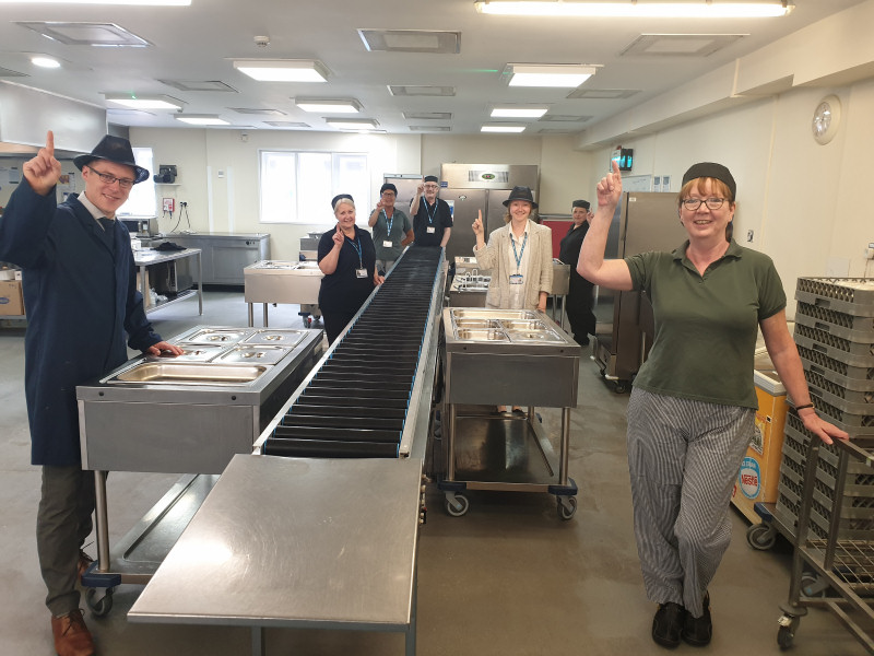 The Catering team at Shropshire's Robert Jones and Agnes Hunt Orthopaedic Hospital