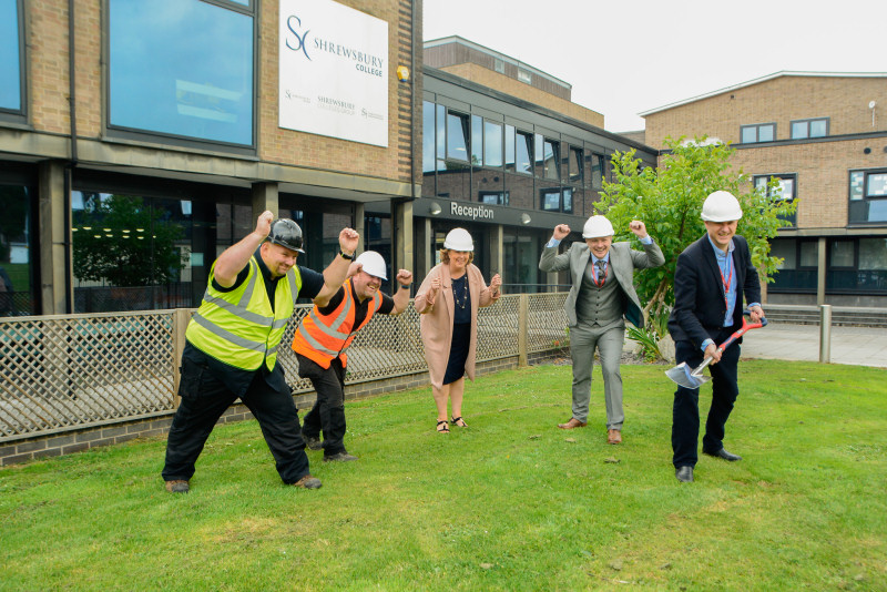 Building work on the centre at the College's London Road campus began this week, with representatives from the College, RMT Garage Equipment, and the LEP present