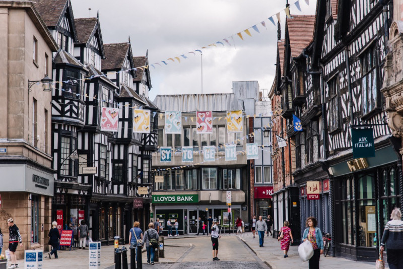 High Street in Shrewsbury