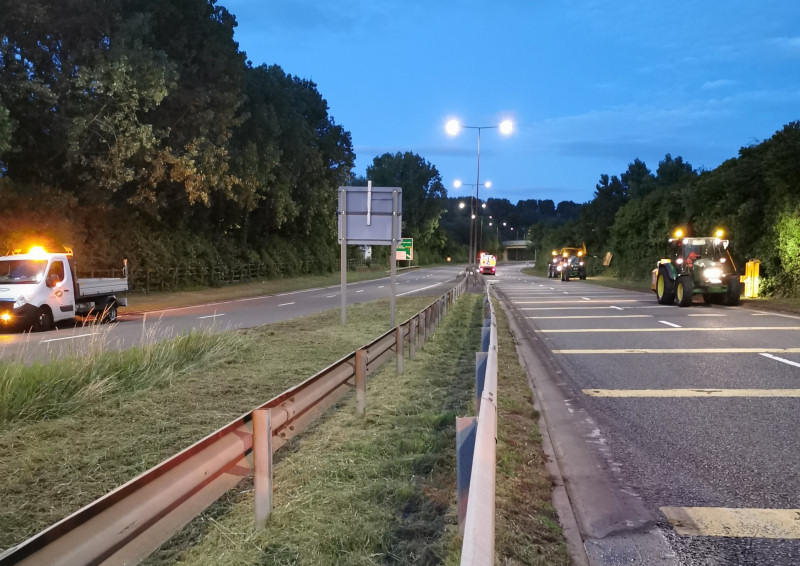 Work taking place on the dual carriageway network in Telford. Photo: Telford & Wrekin Council