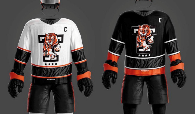 Telford Tigers 2020/21 home and away kit