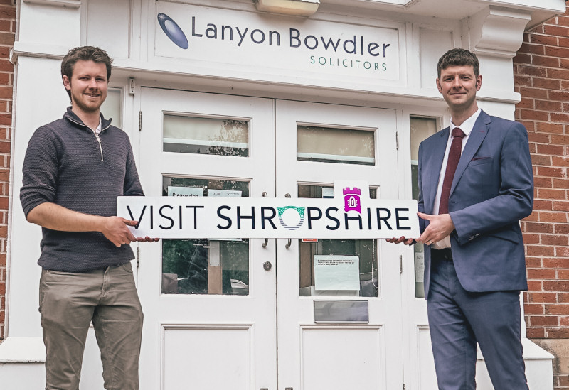 Mark Hooper, Project lead at Visit Shropshire with Mark Tromans, corporate solicitor at Lanyon Bowdler