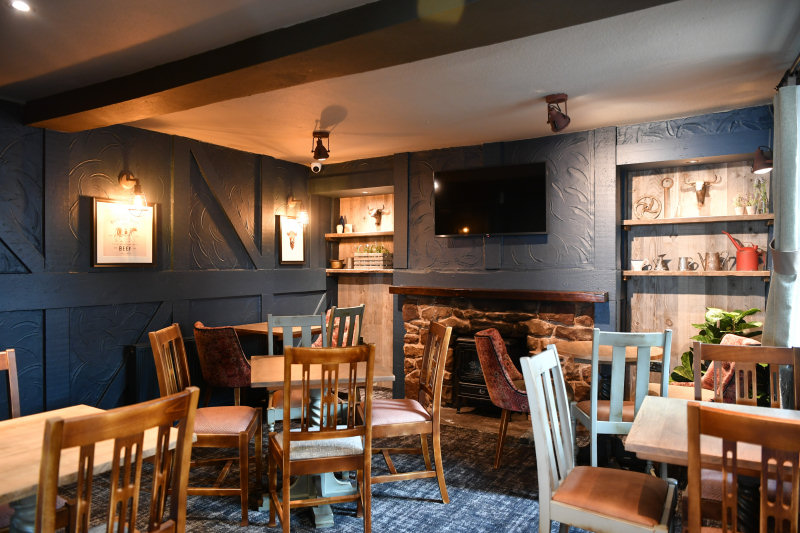 Inside the pub has been redecorated with the addition of characterful accents to complement its cosy low ceilings, open fireplace and timber framing