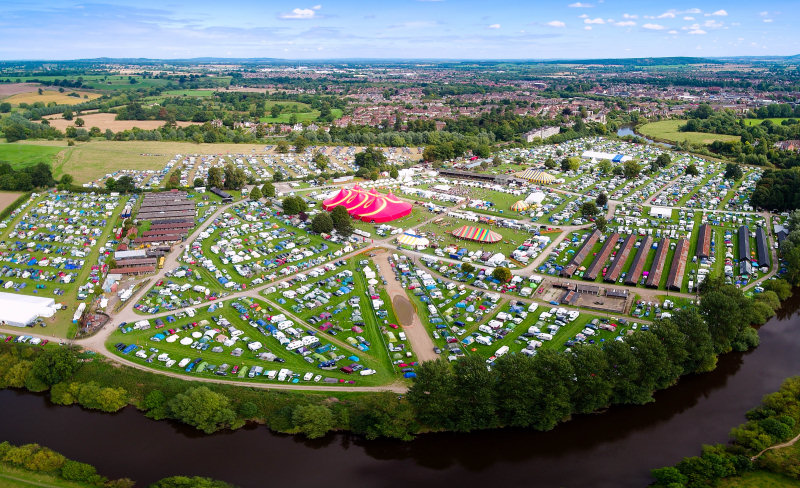 Organisers of this year's Shrewsbury Folk Festival are hosting a two-day virtual festival to help raise funds for Hope House. Photo: Drone Rangers