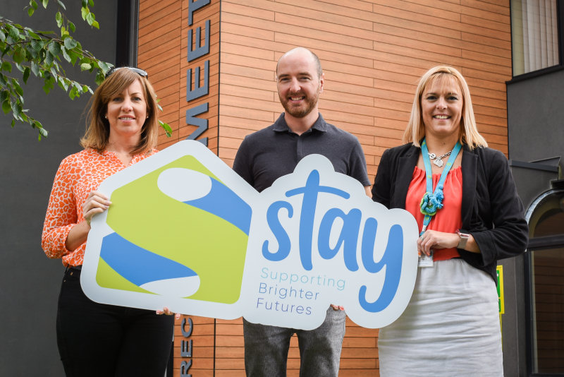 Dena Evans from Reech with Terry Gee and Kay Bennett from Stay Telford