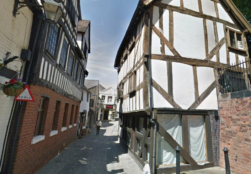 The timber-framed Bear Steps building. Photo: Google Street View