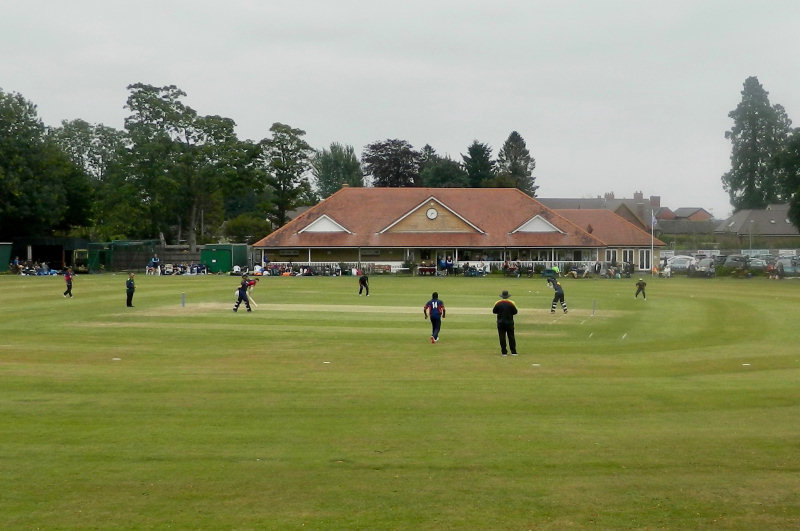 The scene at Oswestry as Shropshire faced Herefordshire in Sunday's friendly
