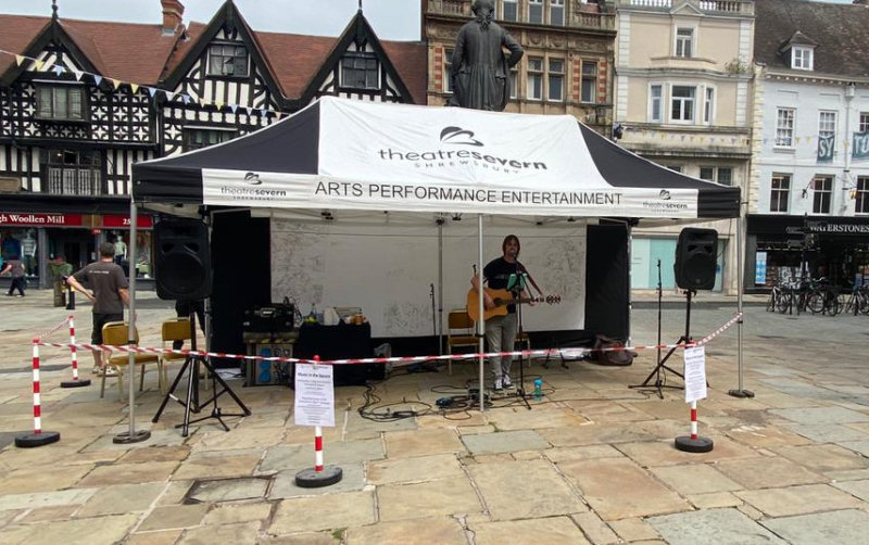 Bayston Hill-based Tiny Towers playing in The Square
