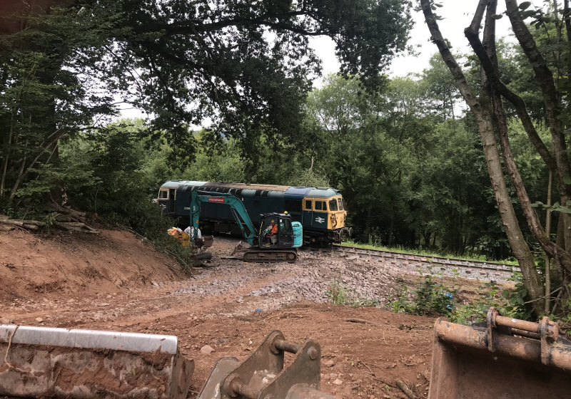 The major funding boost will help with repairs to a serious landslip at Sterns, near Highley. Photo: Matt Robinson