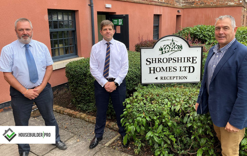 Gerald Rogers and Richard Shackleton with Nick Taylor Business Development Manager at Housebuilder Pro