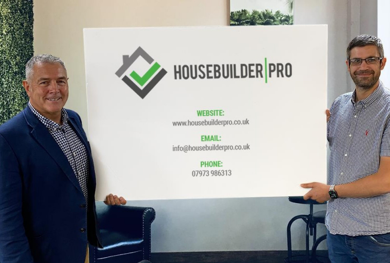 Pictured left is Nick Taylor  with Simon Jeavons, Chief Operating Officer at Shoothill & Housebuilder Pro Ltd