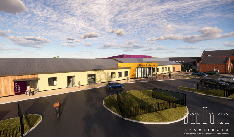 An artist's impression of the proposed new school. Image - MHA Architects