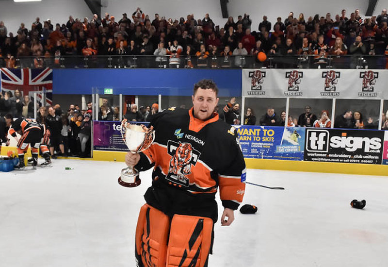 Net minder Brad Day. Photo: ©Telford Tigers / Steve Brodie