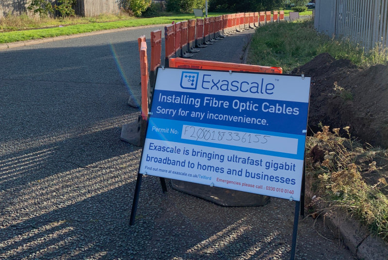 Exascale id expanding their Full Fibre network to Hortonwood, Apley, Leegomery and Shawbirch