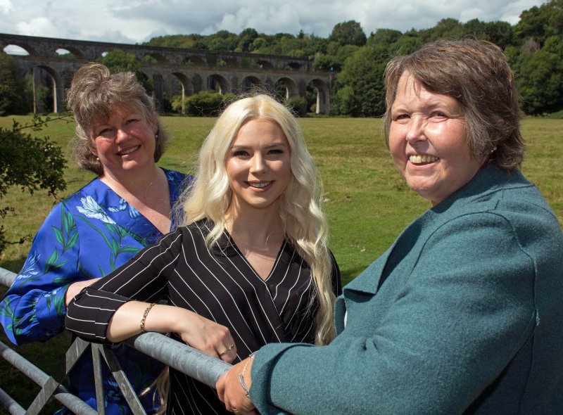 Niamh Kelly (back left) with Aleesha Skett (middle) and Laura Bray who will front The HR Dept Wrexham and Chester