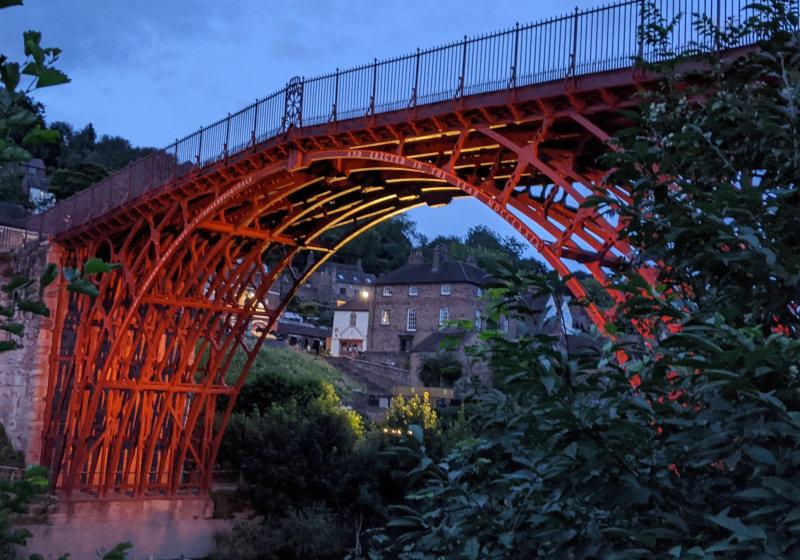 The Iron Bridge will be illuminated on both Saturday and Sunday evening