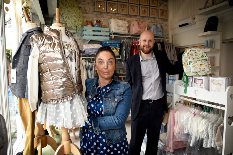 Leah Ellington and Andy Ward at Little Buttons Boutique