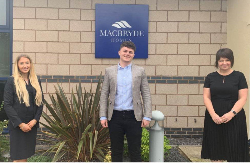 Alicia Foulkes, Office Administrator at Macbryde, Josh Welch (HBP) and Sarah Sellers, Customer Care Co-ordinator at Macbryde