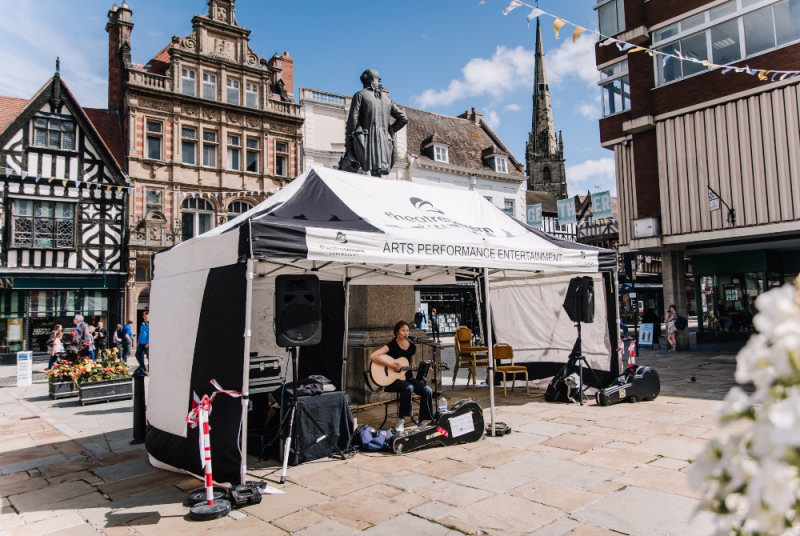 Traders in around The Square have said the music has been a great success