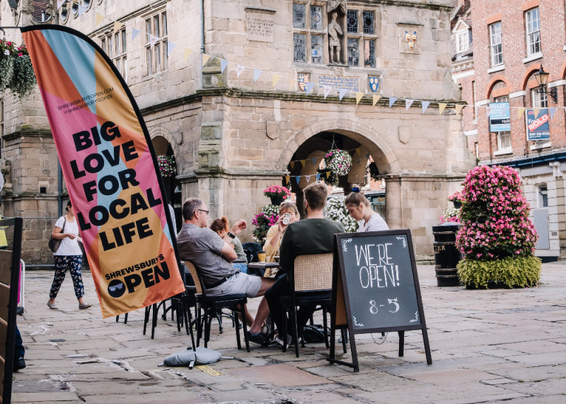 Shrewsbury town centre footfall steadily rose throughout August