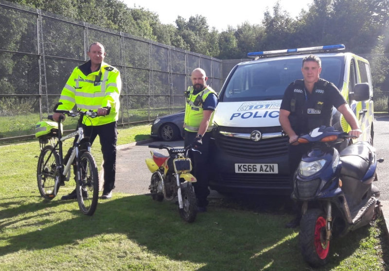 South Telford Safer Neighbourhood Team target motorbike disorder