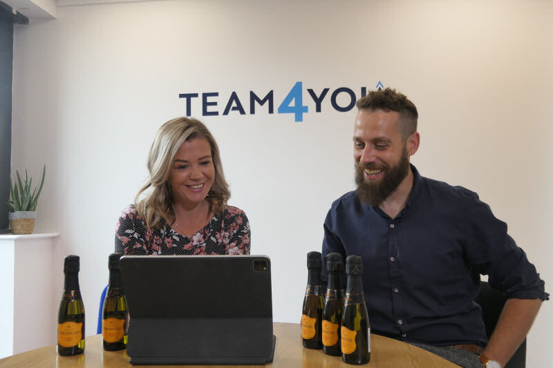 Branch Manager at Team4You Jess Bailey, Operations Director at Team4You Nick Lewis