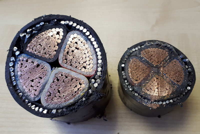 Valuable copper cables were stolen during the burglary. Photo: West Mercia Police