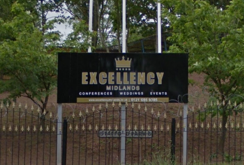 Excellency Midlands Ltd has been banned from hosting weddings during government covid restrictions. Image: Google Street View