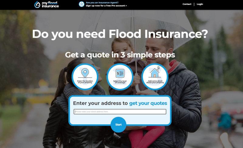 A screenshot of the My Flood Insurance website