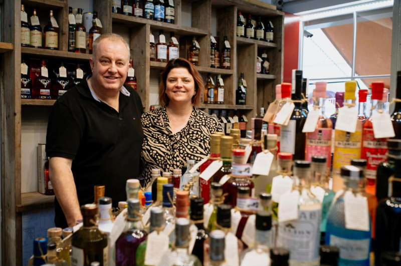 Owners Derek and Maria Bowen at Moonshine & Fuggles