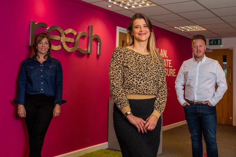 Dena Evans (Creative Director), Zoe Bates (Client Services Director) and Rob Hughes (Managing Director)
