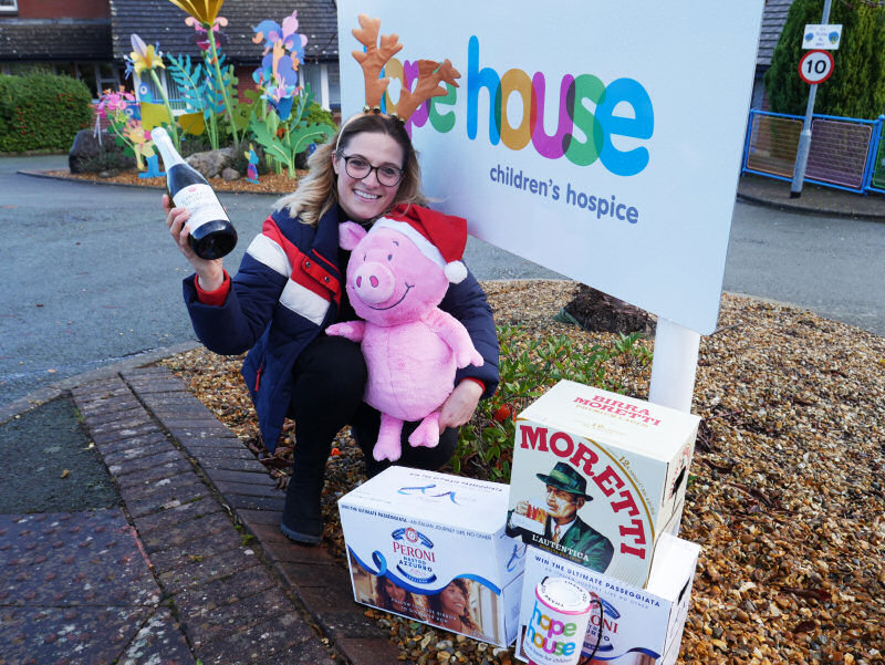 Fundraiser Nic Sciarillo from Hope House in Oswestry