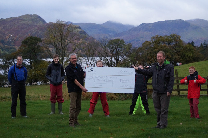 Barratt Developments' divisions across the UK raised £100,000 for The Outward Bound Trust and Macmillan Cancer Support