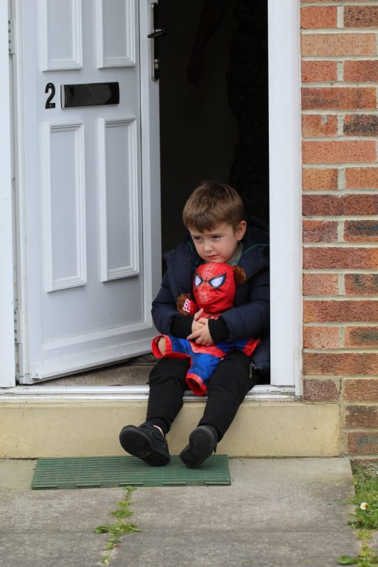 Cameron's photo will feature alongside other heart-warming photos and stories of real-life military children as seen through their eyes. Photo: Nadine Walker