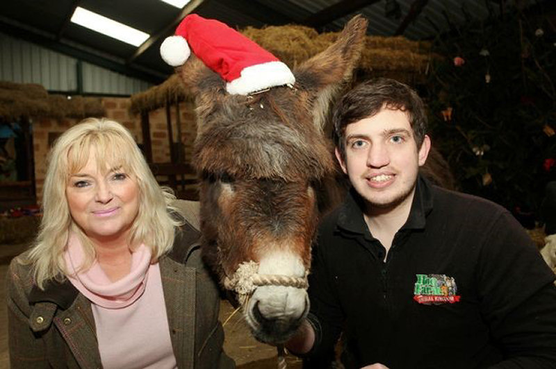 Carolyn and Will Dorrell with Whisper the donkey