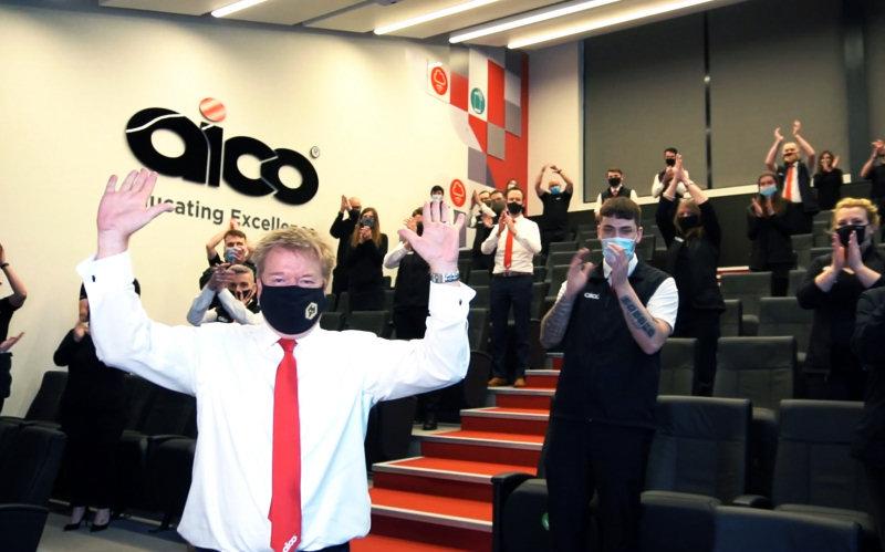 Company of the Year - Aico celebrating