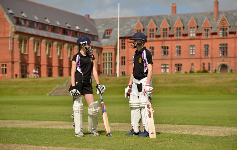 Cricketers at Ellesmere College