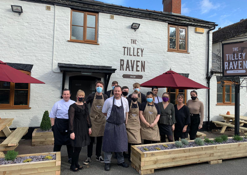 The team at the historic 18th century Tilly Raven pub in Wem