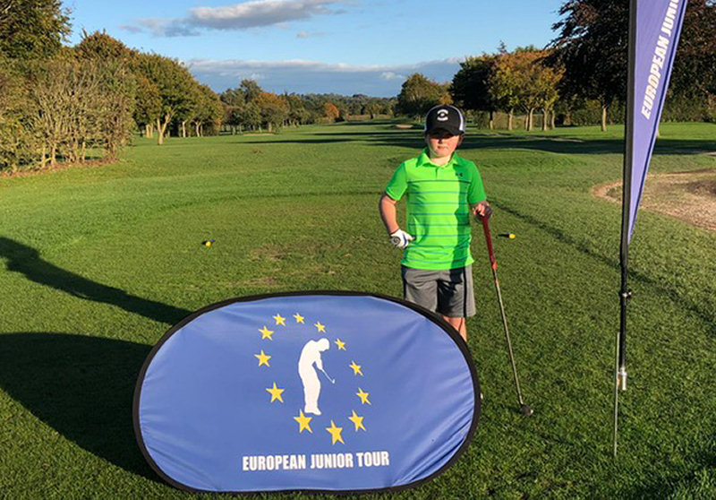 Ethan Harris at the European Junior Tour