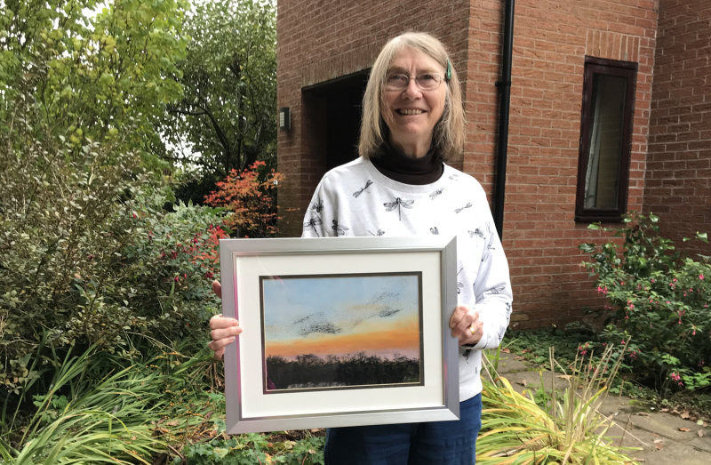 A pastel drawing by artist Lesley Howse took first prize in the 2020 competition
