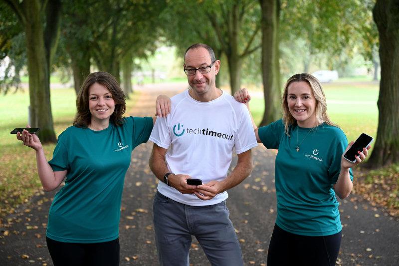 Stephanie Henson, Neil Lloyd and Kate Oakley of techtimeout