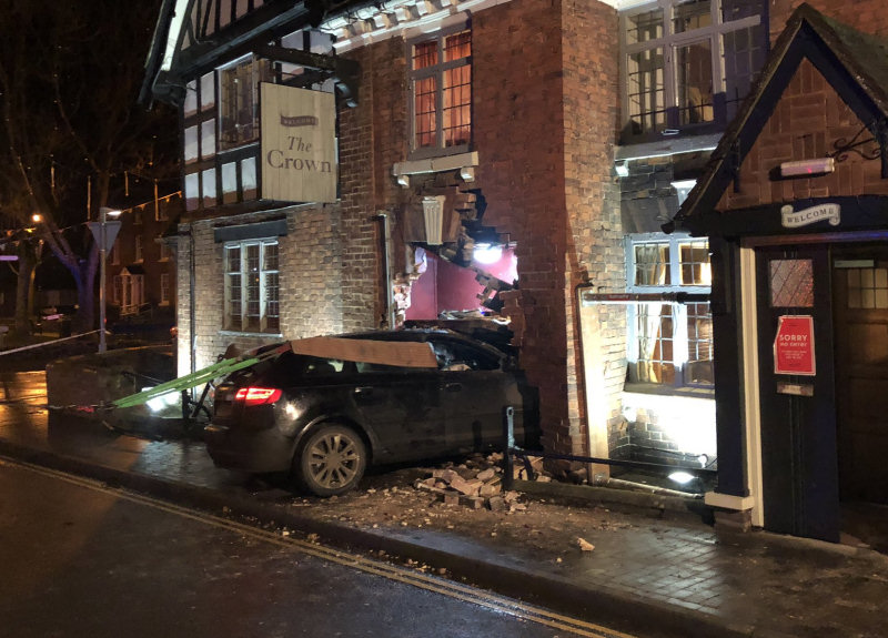 The scene of the incident on Albrighton High Street. Photo: Craig Jackson / SFRS