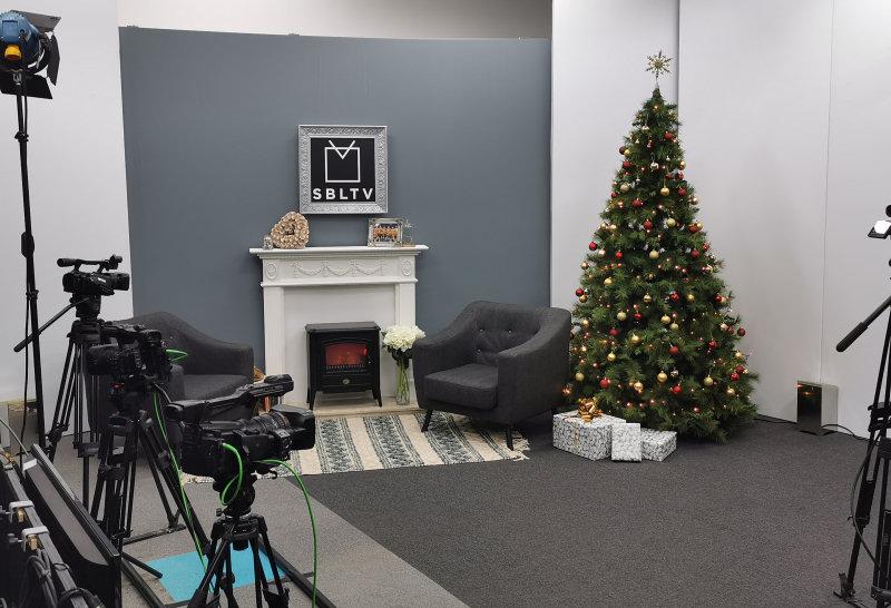 The SBLTV studio gets a festive makeover
