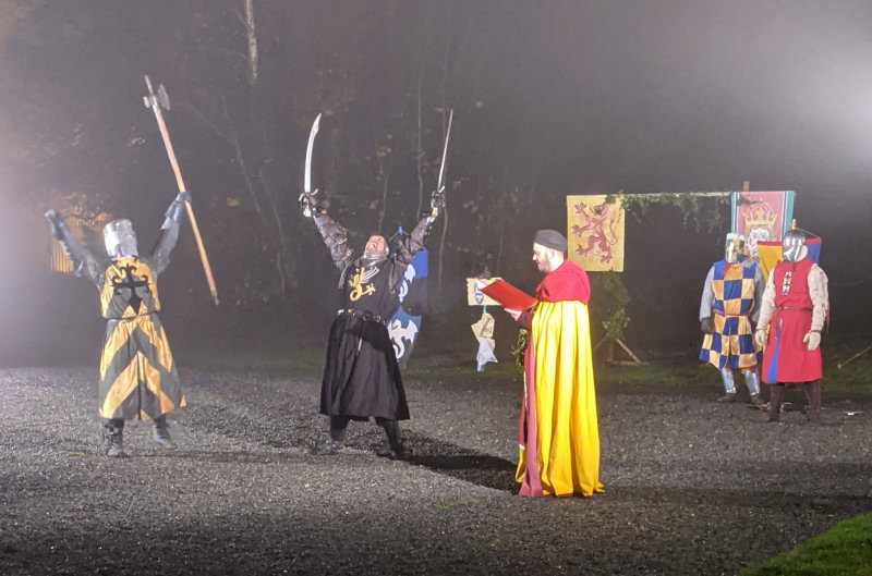 The live highlights included the battle between chivalric heroes in the popular Tournament of Knights