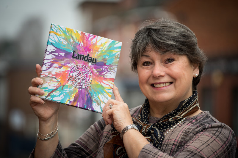 Landau's Chief Executive Sonia Roberts celebrates the charity's 25th anniversary with the publication of an inspirational book.