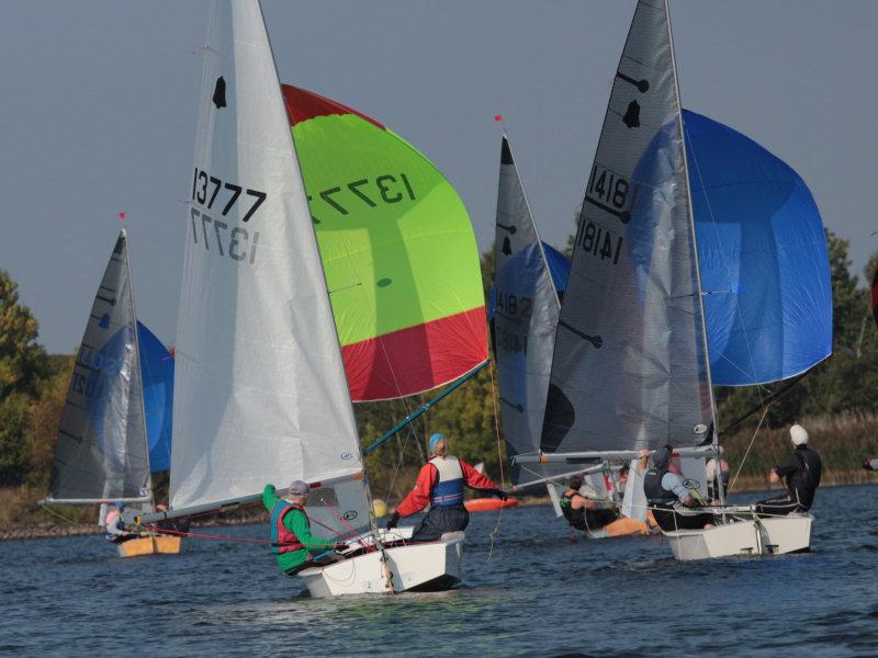 Racing at Chelmarsh Sailing Club. Photo: Terry Gumbley