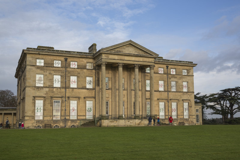 Each day a window is 'opened' on the Mansion advent calendar at Attingham Park. Photo: National Trust/James Dobson.