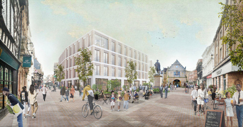 How Shrewsbury's Square could look