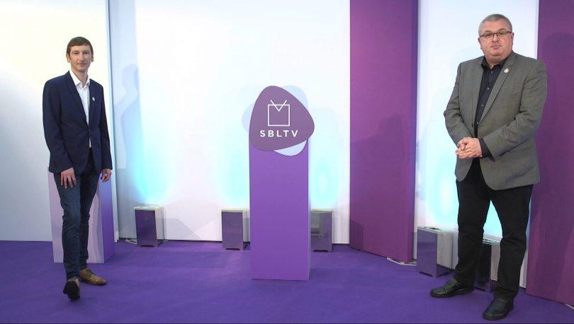 Chris Pritchard and Carl Jones presenters of Shropshire Business Live TV